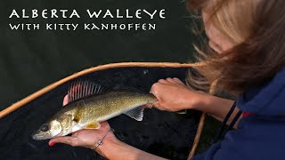 FLY FISHING FOR ALBERTA WALLEYE!