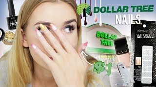 DOLLAR TREE NAIL ART CHALLENGE!! (why am i doing this, i suck at doing nails)