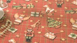 Jolee Tablecloths: Red Christmas Check PVC Vinyl Tablecloth