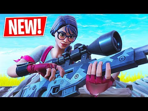 New Sniper Gameplay!! *Pro Fortnite Player* (Fortnite Battle Royale)