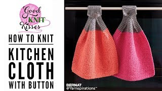 Knit Cloth With Button For Your Oven (CC)