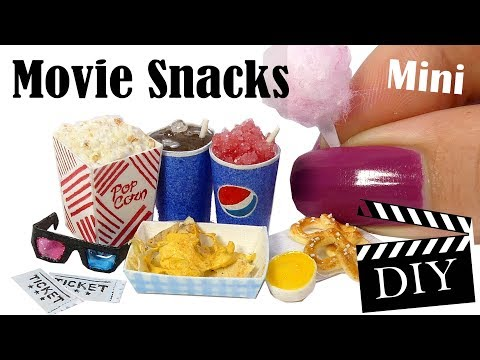 Cute Mini Movie Snack Tutorial // DIY Popcorn, Cotton Candy, Icee +More