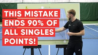 This Mistake Ends 90% of All Singles Points - Tennis Singles Strategy