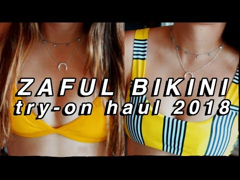ZAFUL BIKINI TRY-ON HAUL 2018! zaful swimsuit haul and review 2018