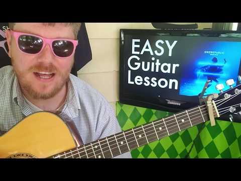 OneRepublic - Wanted // easy guitar lesson tabs easy chords strumming tutorial beginner