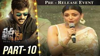 Khaidi No 150 Pre Release Event Part 10  Megastar Chiranjeevi  Kajal Aggarwal  V V Vinayak