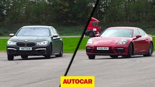 [Autocar] BMW M760Li vs Porsche Panamera Turbo | Drag race, drifted, driven on road