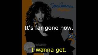 "Donna Summer - Dinner with Gershwin (LP Version) LYRICS SHM ""All Systems Go"" 1987"