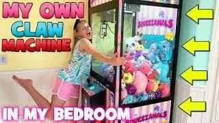 I WON A WHOLE CLAW MACHINE!!