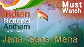 Indian Flag background video | Jana Gana Mana Indian National Anthem instrumental music with lyrics