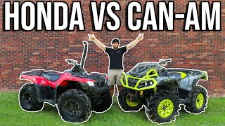 HONDA VS CAN-AM   MUD OFF IN THE SWAMP!