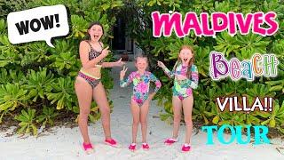 OUR MALDIVES BEACH VILLA TOUR! MALDIVES DAY 2