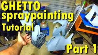 How to spray paint your motorcycle at home cheap | Part 1