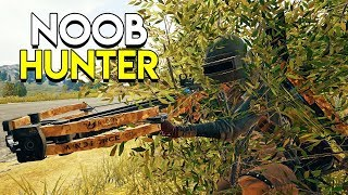 THE NOOB HUNTER! (Crossbow Only) - PlayerUnknown