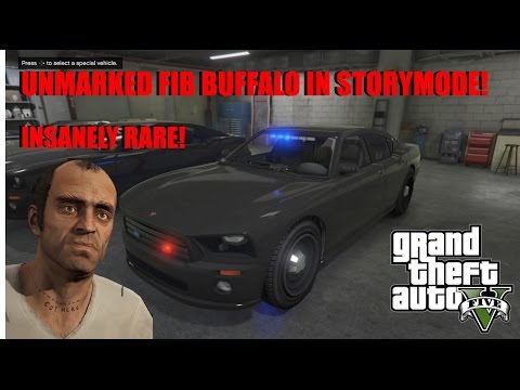 (GTA 5) How To Glitch The Unmarked FIB Buffalo Into Storymode!