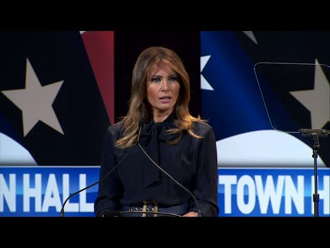 "First lady Melania Trump took her ""Be Best"" campaign to Las Vegas on Tuesday, saying she wished the media would talk about the drug epidemic and less on ""idle gossip or trivial stories.""  (March 5)"