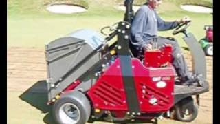preview picture of video 'Turfmech CAT800 in use at Pyle & Kenfig Golf Club'