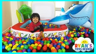 GIANT BALL PIT Surprise Toys Challenge in Pool Disney Cars Lightning McQueen Thomas and Friends