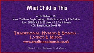 What Child Is This - Christmas Carol, Lyrics & Music
