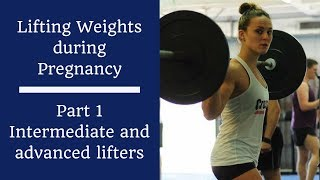 GUIDELINES FOR LIFTING WHEN PREGNANT