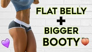 ❤️ How To Get A Flat Stomach and Bigger Butt🍑   4 Workouts To Flatten Your Belly & Grow Bigger Butt