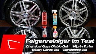 Chemical Guys Diablo Gel Sticky CItrus Nigrin Turbo Cartechnic Felgenreiniger VergleichTest