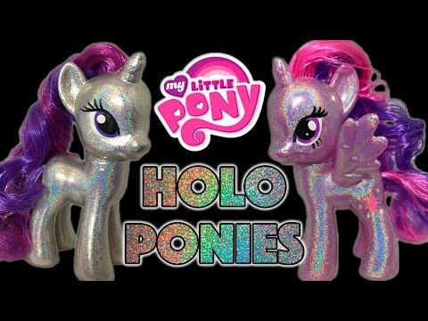 HOLO PONIES - The Mane 6 Shine Bright Like a Diamond || Custom Holographic My Little Pony