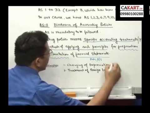IPCC Accounts video classes by CA Parveen Sharma (part 1)