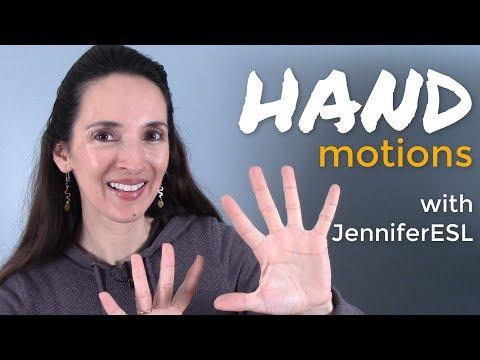Hand Motions 🖐️ English Vocabulary with JenniferESL 👏