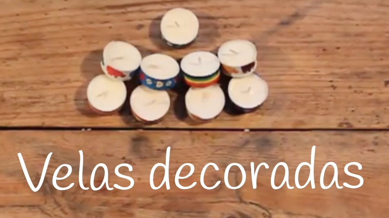 Vela con washi tape | Ideas caseras para decorar