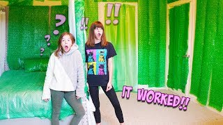 I BUBBLE WRAPPED MY SISTER'S ENTIRE BEDROOM!!