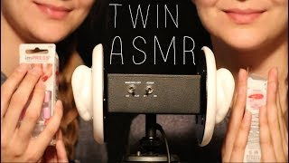 TWIN ASMR: Slow ASMR in Right Ear - Fast ASMR in Left Ear