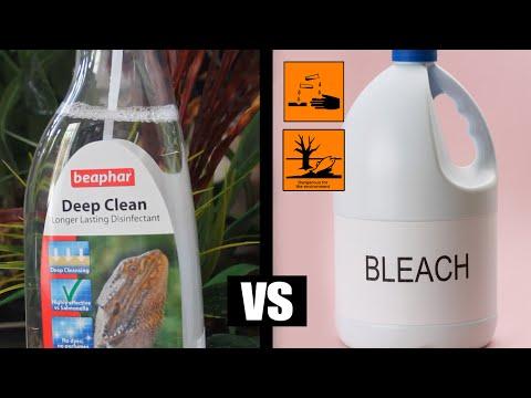 Beaphar Deep Clean Reptile Disinfectant vs Household Bleach