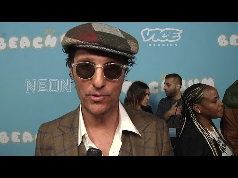 At the premiere of 'The Beach Bum,' Matthew McConaughey says he accidentally got so high on 'Snoop weed' that he 'saw the sun rise' (March 29).