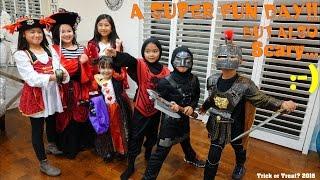Family Vlog: Halloween Trick or Treat 2016! Halloween Costumes and Decorations. Hulyan & Maya!