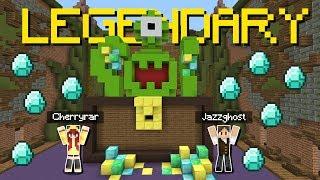 Minecraft: A PRIMEIRA CHUVA DE DIAMANTES DO BUILDÃO EM DUPLA! (BUILD BATTLE)