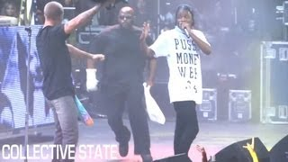 "A$AP Rocky Fan Crashes Stage During ""Goldie"" & ""Kissin' Pink"" at Under The Influence of Music Tour"