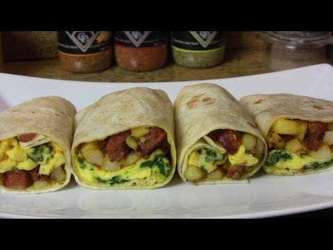 Potato, Egg, & Smoked Sausage Breakfast Burrito- An Easy Breakfast Recipe |Cooking With Carolyn|