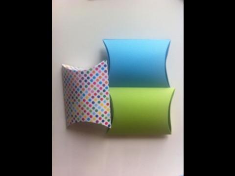 Sacchetto/scatola regalo  fai da te Pillow box (paper gift bag)