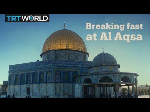 Breaking fast at Al Aqsa complex