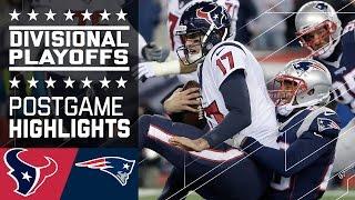 Texans Vs Patriots  NFL Divisional Game Highlights