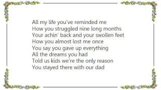 Chely Wright - Between a Mother and a Child Lyrics