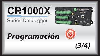 empezar cr1000x (spanish) | programacion (parte 3/4)