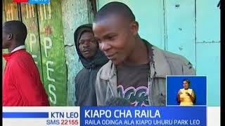 Mamia ya wafuasi wa NASA kutoka Kibera walimiminika Uhuru Park kushuhudia kuapishwa kwa Raila Odinga