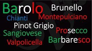 Top 10 Italian Wine Pronunciation - Stop Saying Them WRONG!