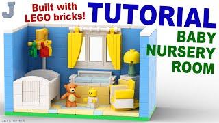 LEGO Baby Nursery Room How To Build Tutorial