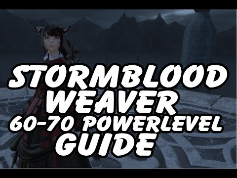 FFXIV Weaver 60-70 Powerlevel Guide - Leves, Collectables