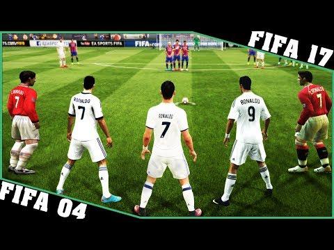 CRISTIANO RONALDO free kicks evolution [FIFA 04 - FIFA 17] ⚽