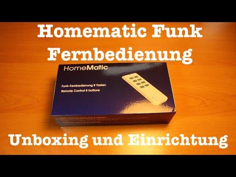 Homematic Fernbedienung - Unboxing und Einrichtung