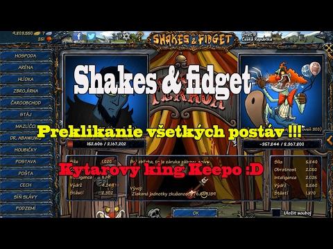 Shakes & fidget : Preklikávanie všetkých postav / Kytarový king Keepo :D